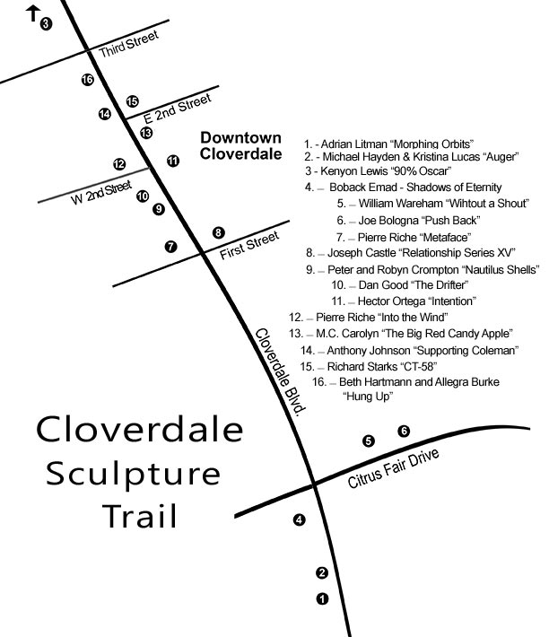 Cloverdale Trail Map